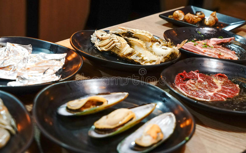 Japanese Seafood BBQ stock photography
