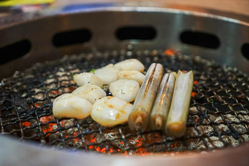 Japanese Seafood BBQ royalty free stock photo