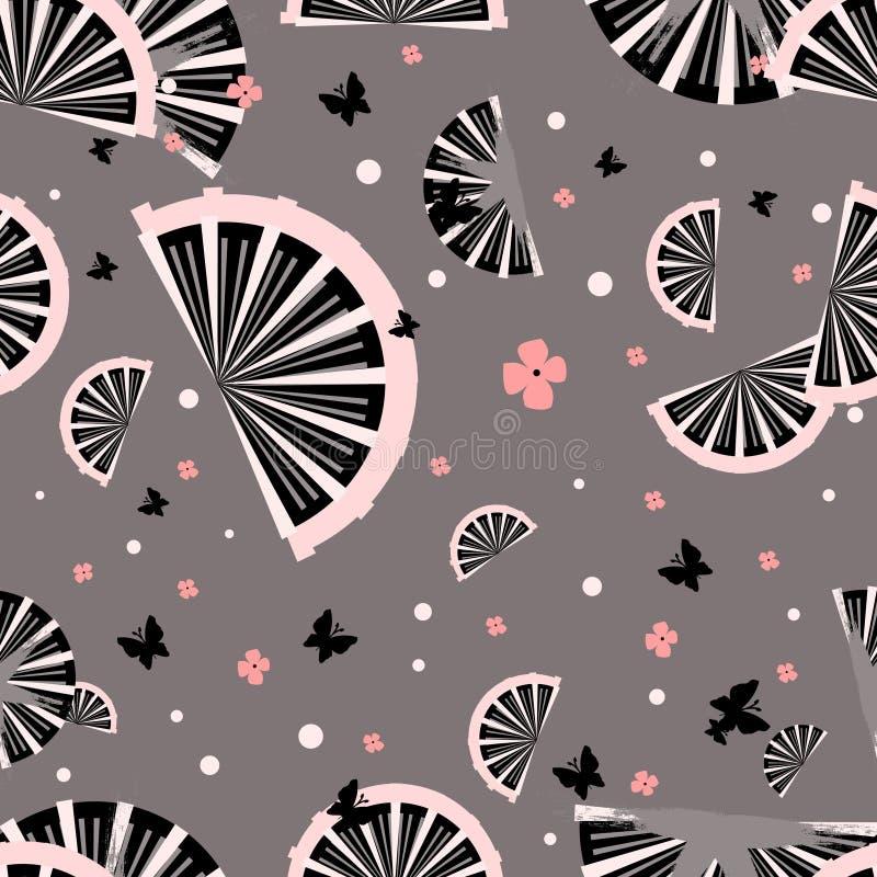 Japanese seamless pattern stock illustration