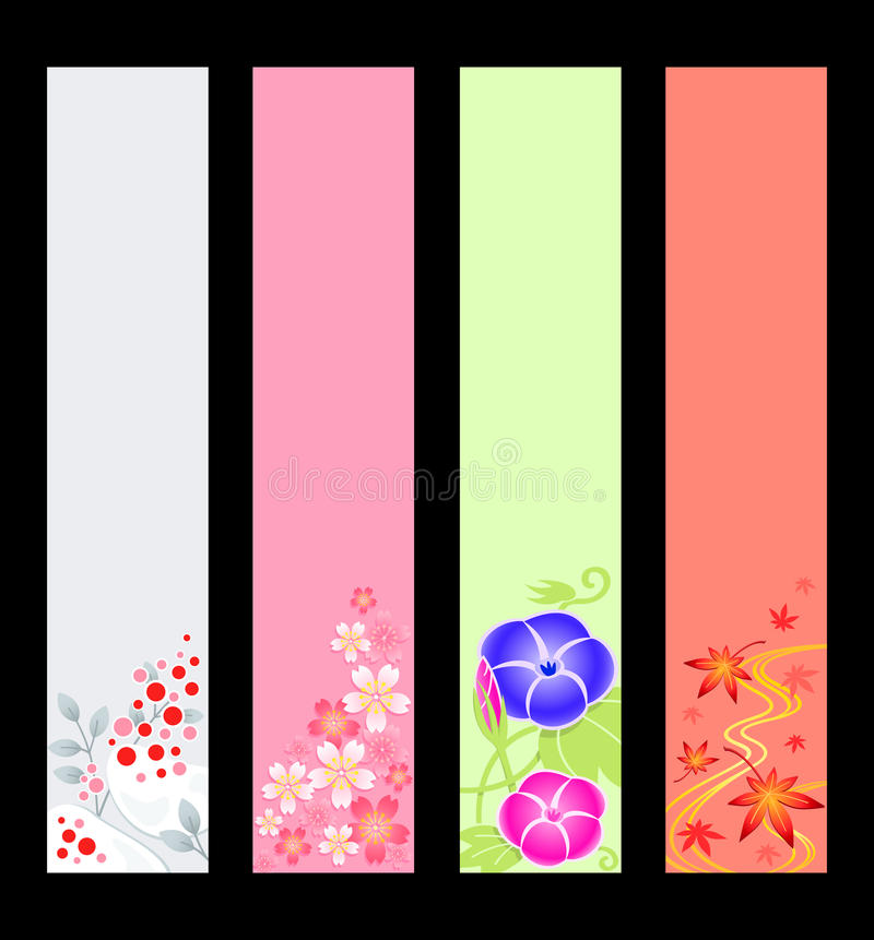 Download Japanese season banners stock vector. Image of illustration - 22594627