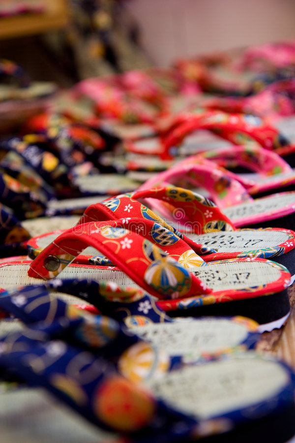 Japanese Slippers royalty free stock photo