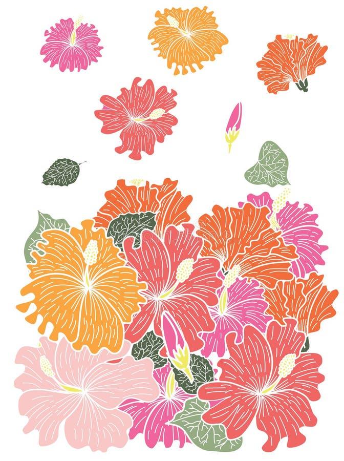 Japanese snake vector and illustration design on white background. vector illustration