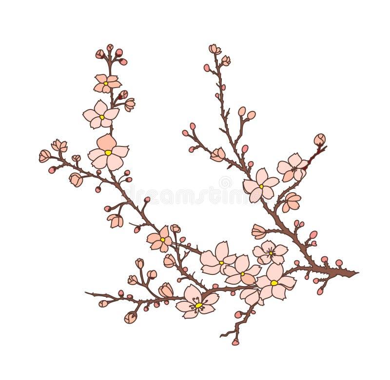 Japanese snake vector and illustration design on white background. royalty free illustration