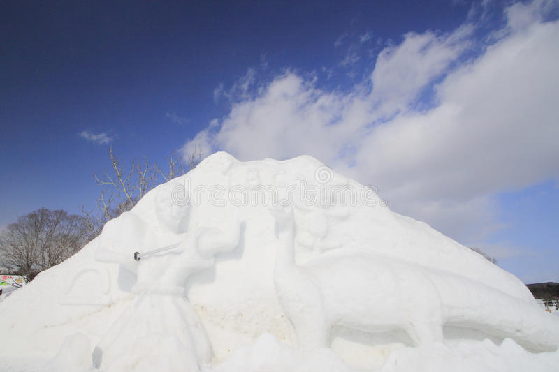 Japanese snow festivals stock photography