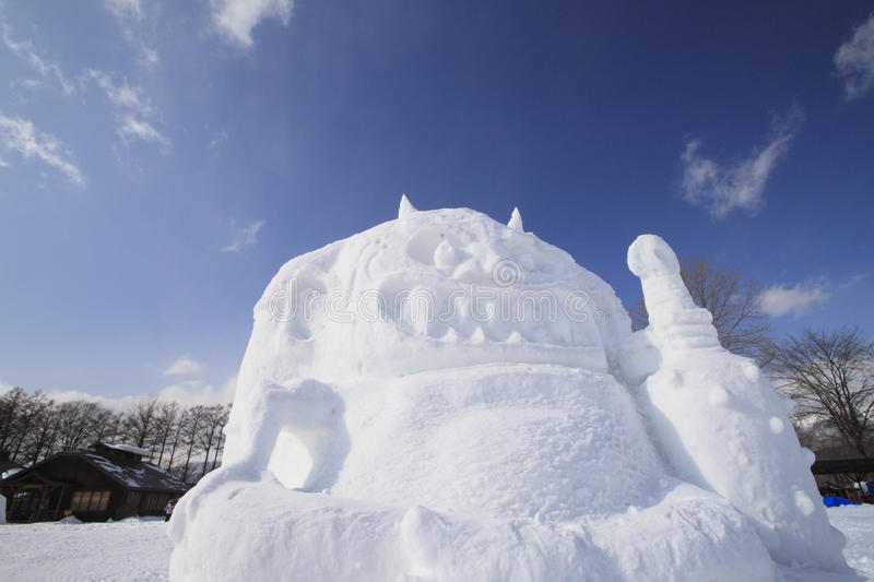 Japanese snow festivals royalty free stock photography