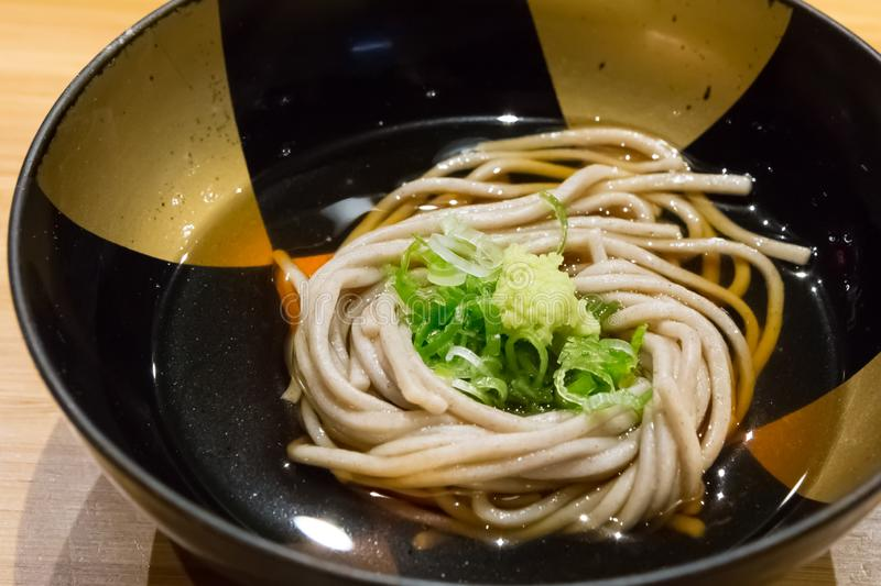 Japanese Soba Cold Noodle royalty free stock photo