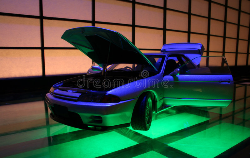 Japanese sports car. A fast Japanese sports car royalty free stock images