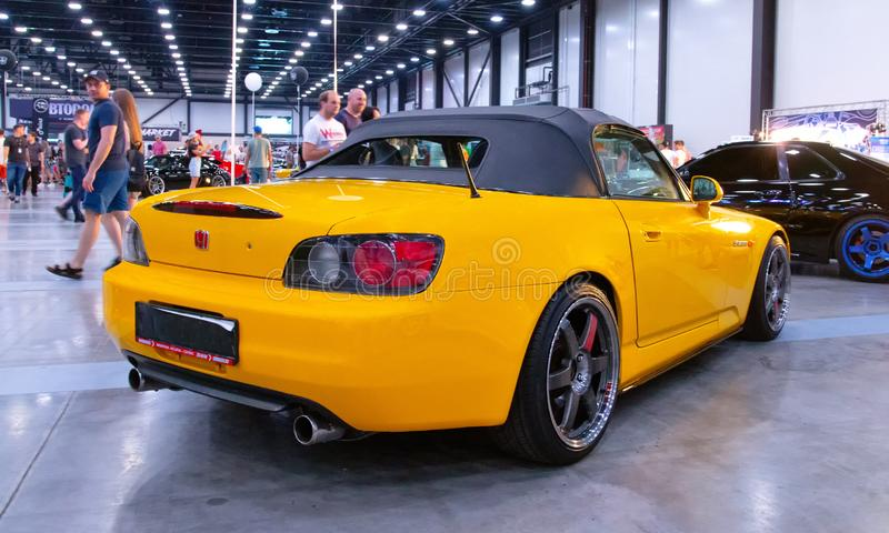 Japanese sports roadster car Honda S2000. At Royal Auto Show. 27 July 2019. St. Petersburg, Russia stock photo