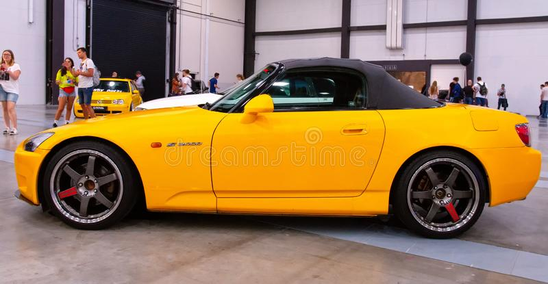 Japanese sports roadster car Honda S2000. At Royal Auto Show. 27 July 2019. St. Petersburg, Russia stock images