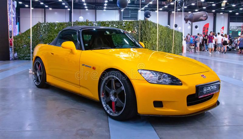 Japanese sports roadster car Honda S2000. At Royal Auto Show. 27 July 2019. St. Petersburg, Russia royalty free stock photography