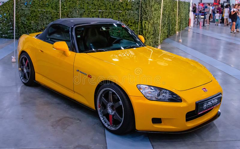 Japanese sports roadster car Honda S2000. At Royal Auto Show. 27 July 2019. St. Petersburg, Russia stock photography