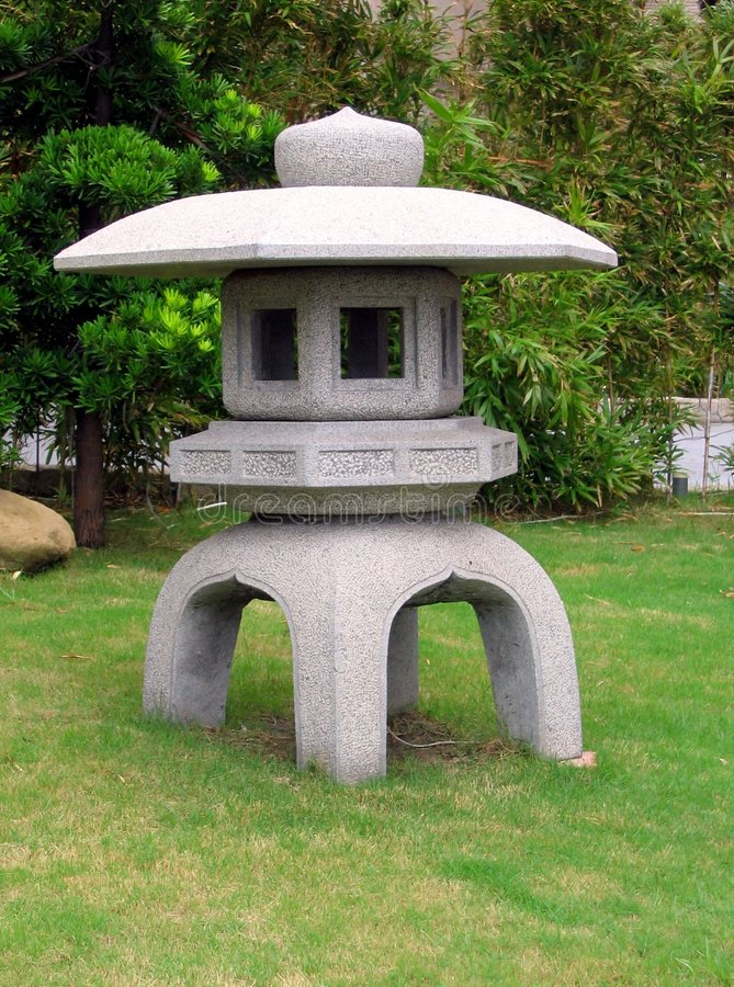 Japanese Stone Lantern Stock Image Image Of Hard Garden 273987