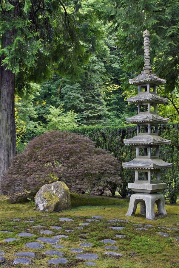 Japanese Stone Pagoda royalty free stock photography