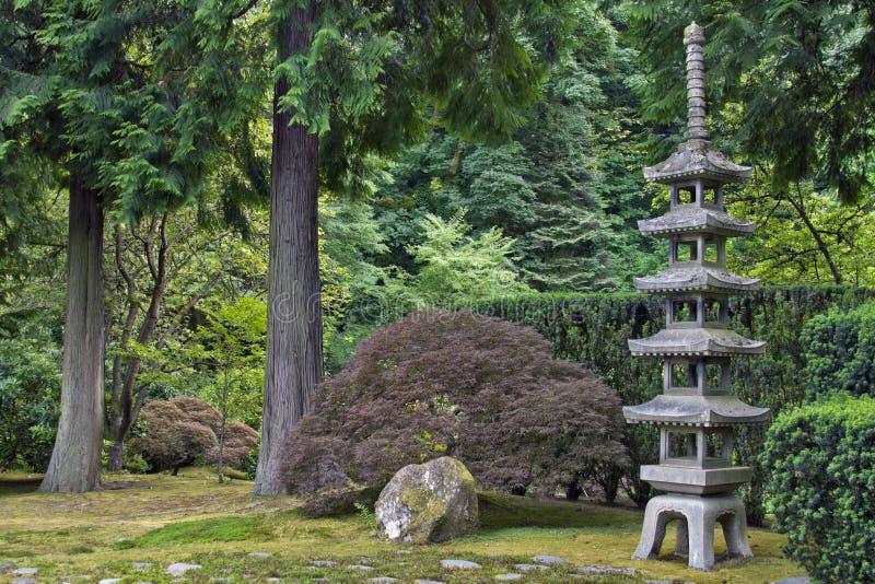 Japanese Stone Pagoda 2 royalty free stock image