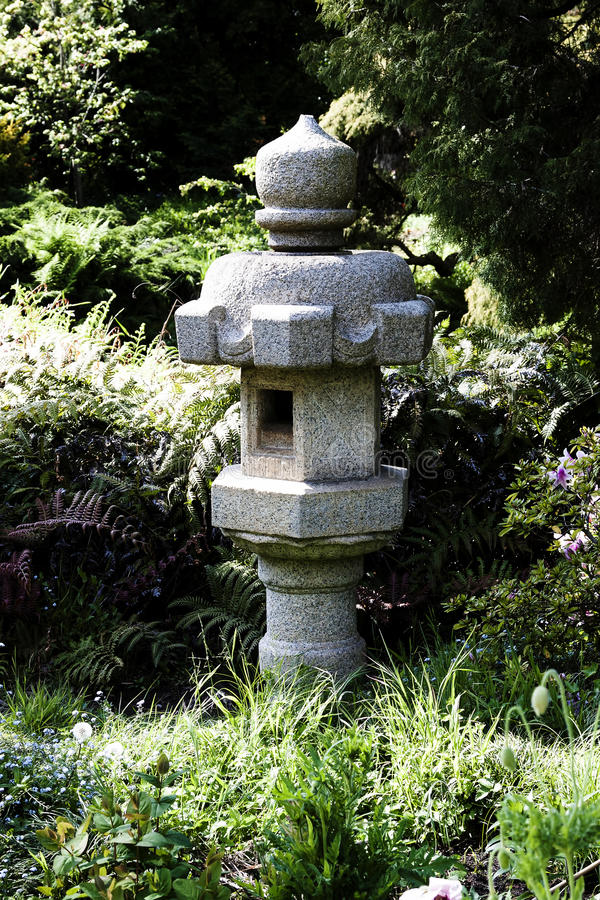 Japanese Stone Pagoda Standing In Garden San Francisco royalty free stock images