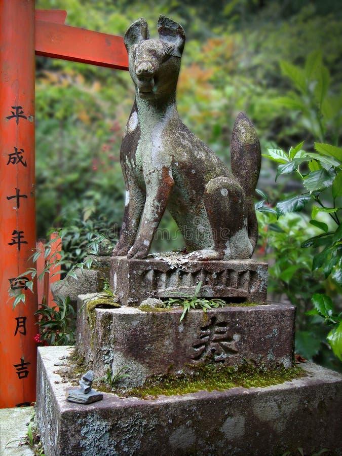 Japanese stone statue stock image