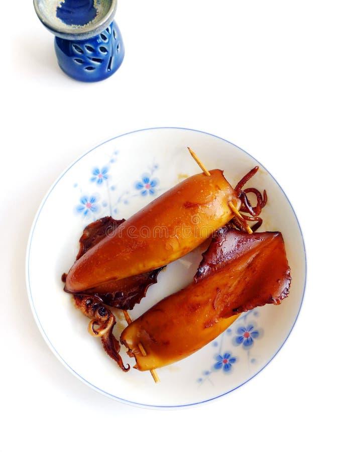 Japanese stuffed squids royalty free stock image