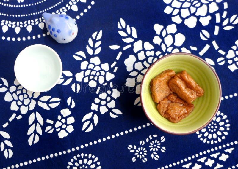 Japanese style braised tofu puffs stock photos