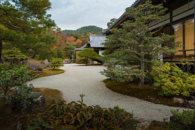 Download Japanese Style Garden House Backyard Pathway Stock Image   Image  Of Travel, Fall: