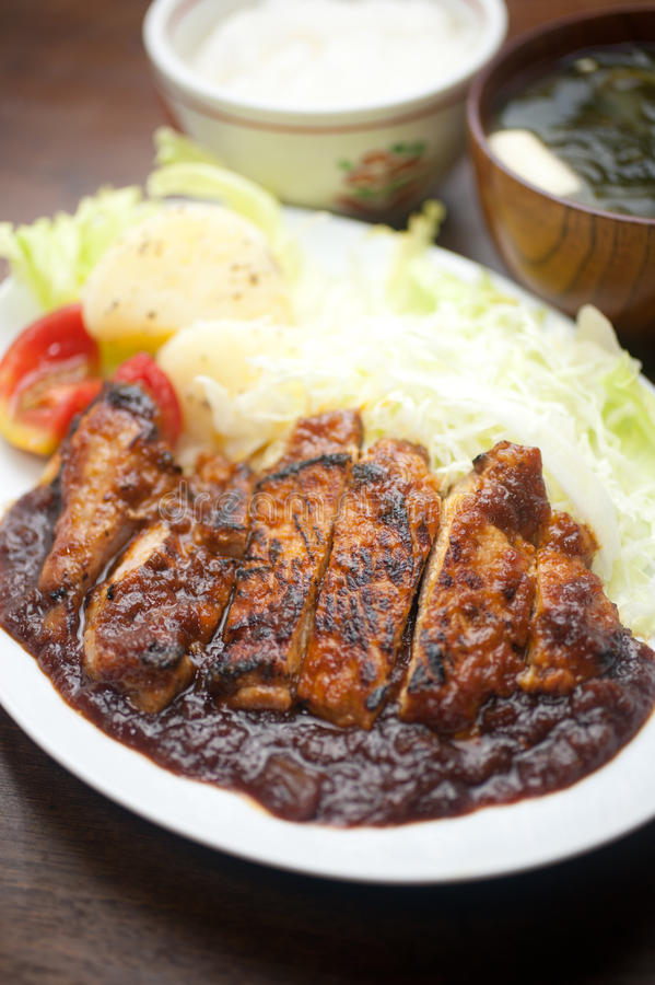 Download Japanese style Pork chop stock photo. Image of meat, cuisine - 23166854