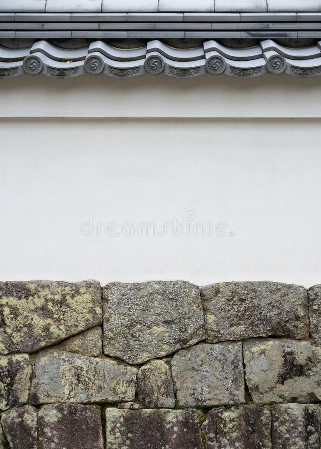 Japanese style roof and wall stock photography