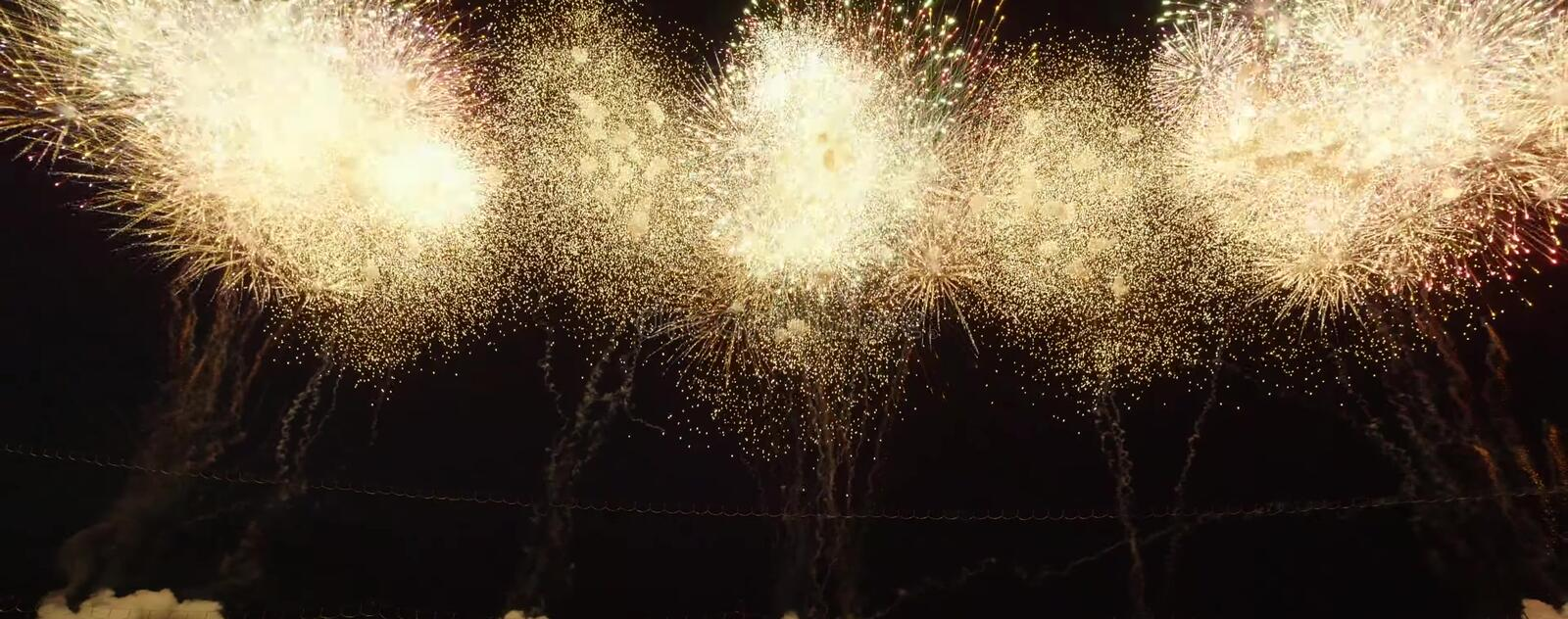Japanese Superb view fireworks stock image