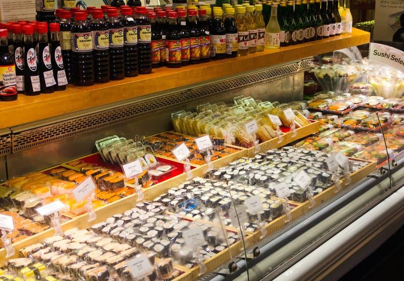 Japanese Supermarket Sushi stock photography
