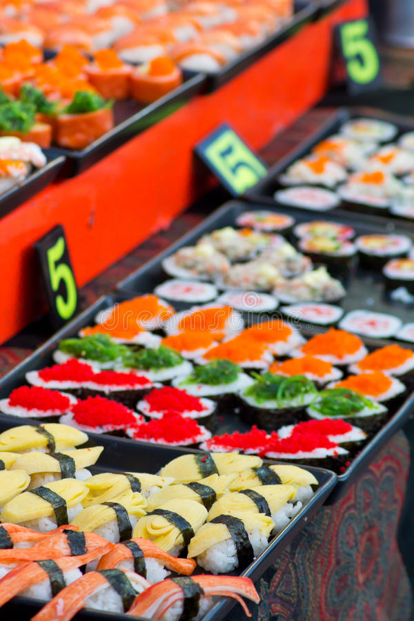 Download Japanese Sushi stock photo. Image of foods, colorful - 26808190