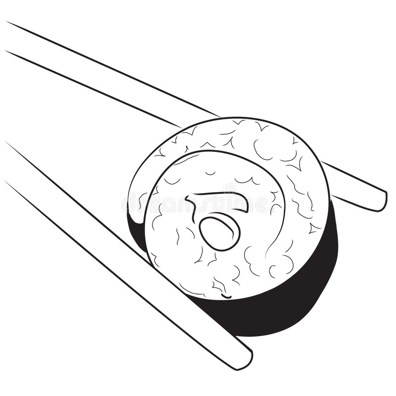 Japanese sushi stock illustration