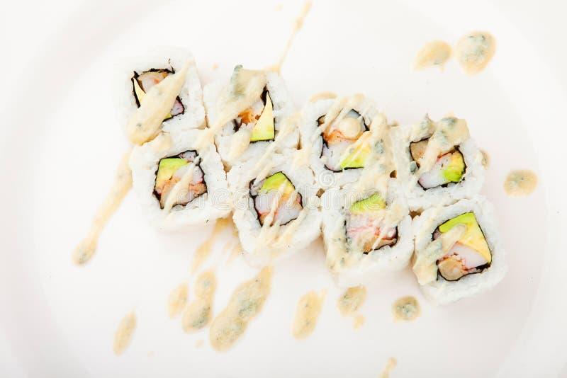 Download Japanese sushi close up stock photo. Image of food, nobody - 16559550