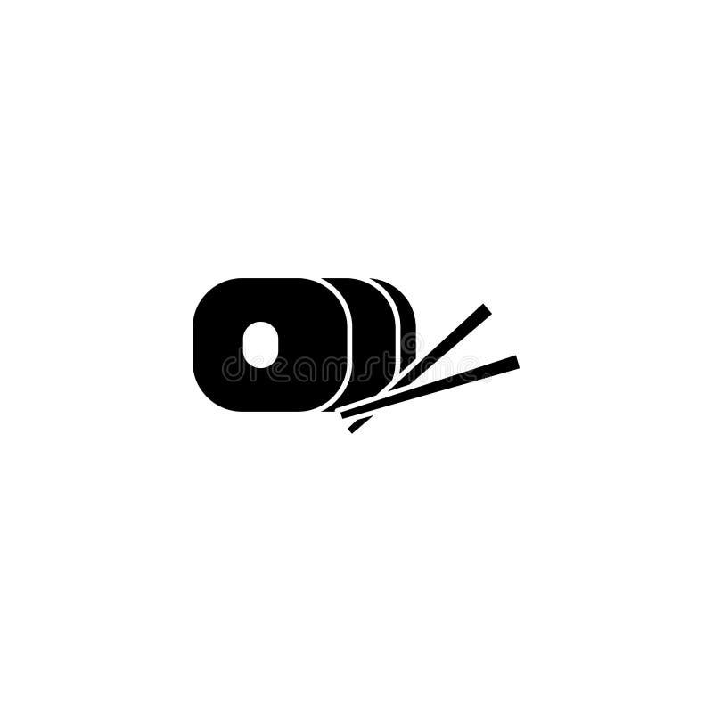 Japanese sushi fast food line style icon royalty free illustration
