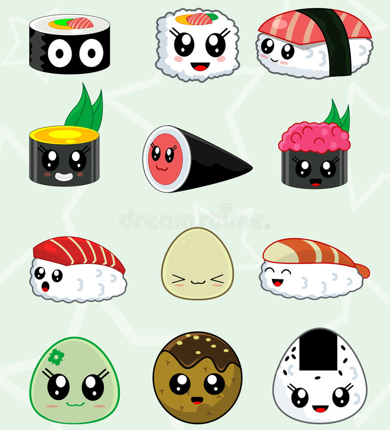 Download Japanese Sushi Food Vector Icons Set Stock Vector   Illustration  Of Cuisine, Japanese: