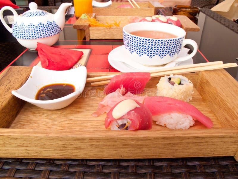 Japanese sushi meal stock photo