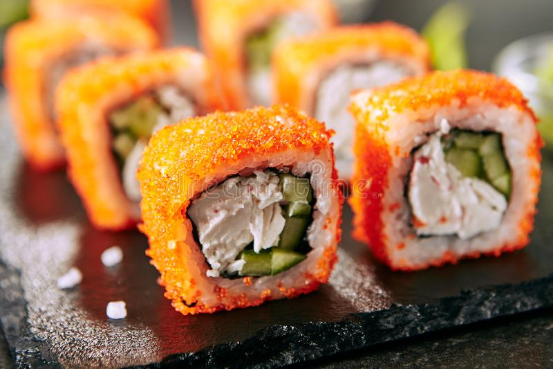 Japanese Sushi Roll stock photos
