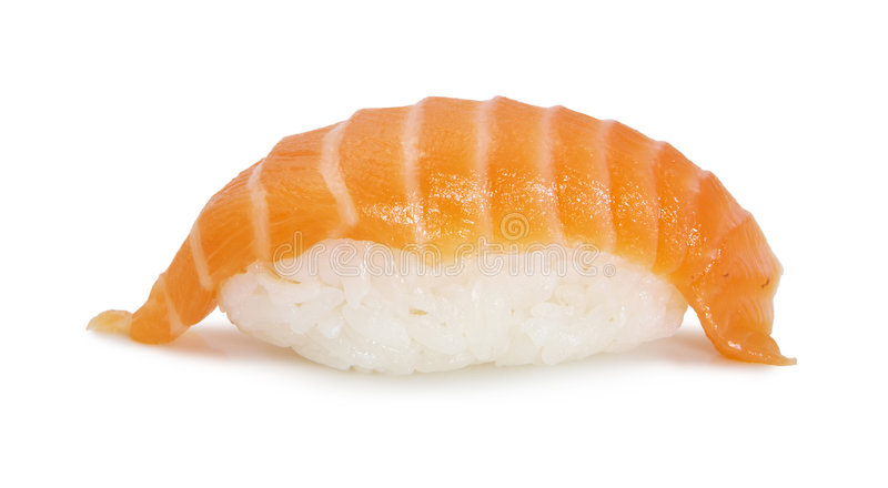 Japanese sushi with salmon royalty free stock photography