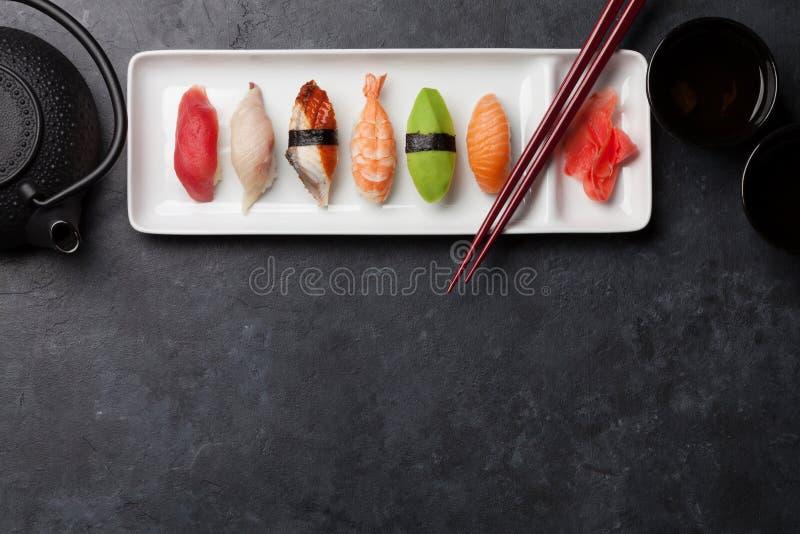 Japanese sushi set royalty free stock images