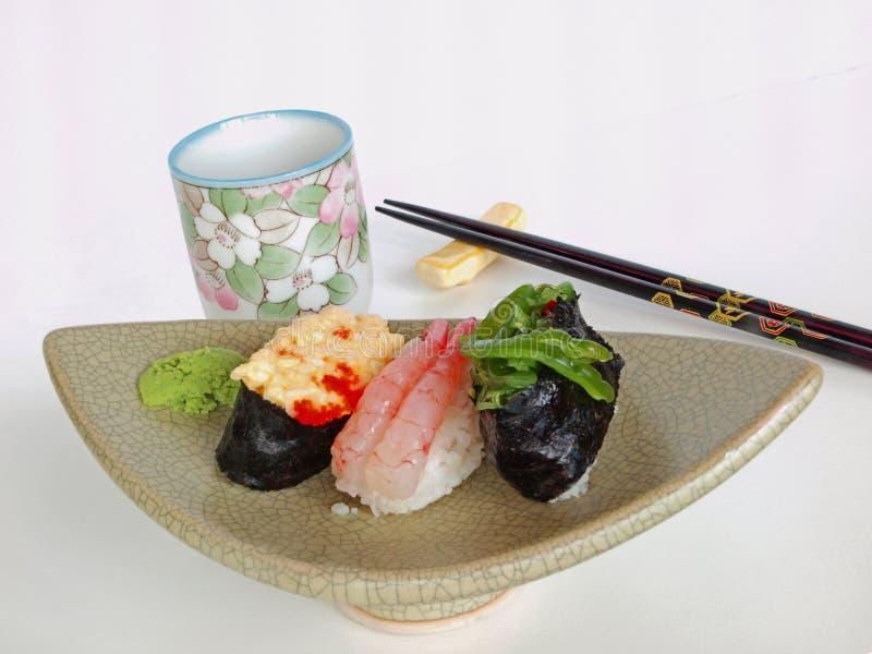 Download Japanese Sushi And Tea (Ocha) Stock Image - Image of fish, shape: 19927285