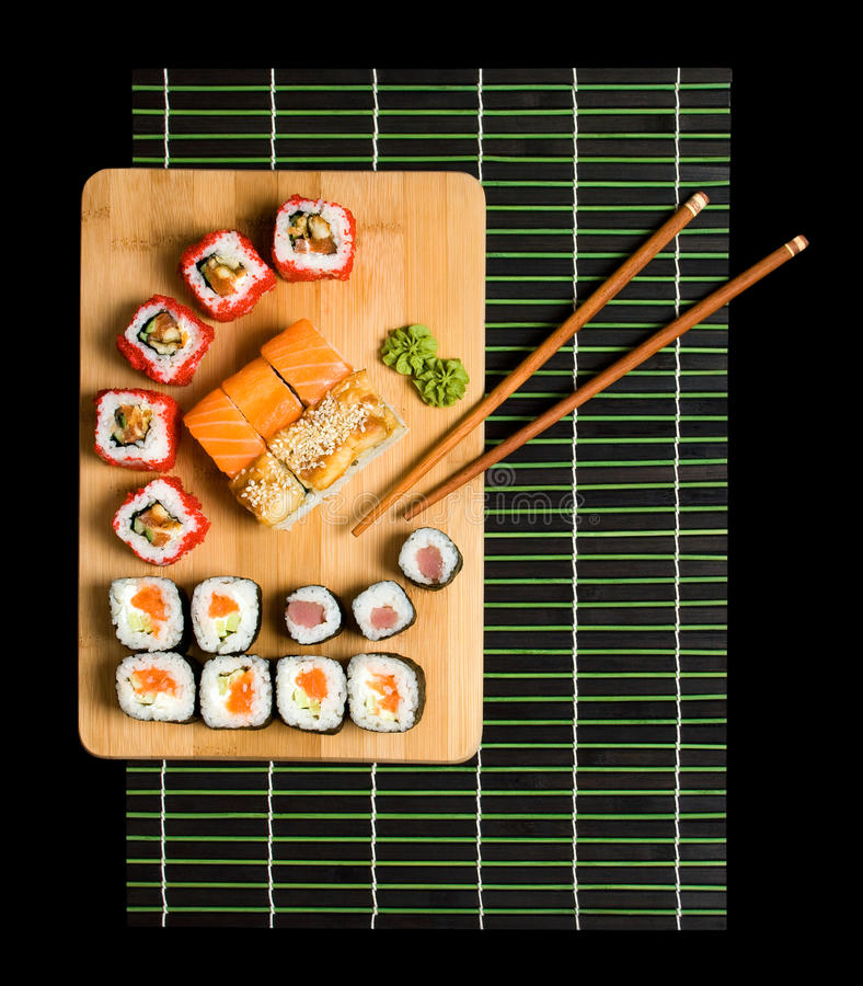 Download Japanese Sushi Traditional Japanese Food Stock Photo - Image of sesame, japan: 24996928