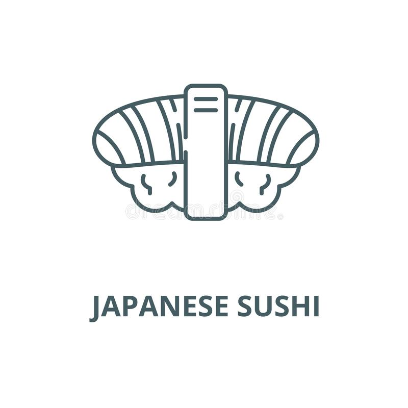 Japanese sushi vector line icon, linear concept, outline sign, symbol stock illustration