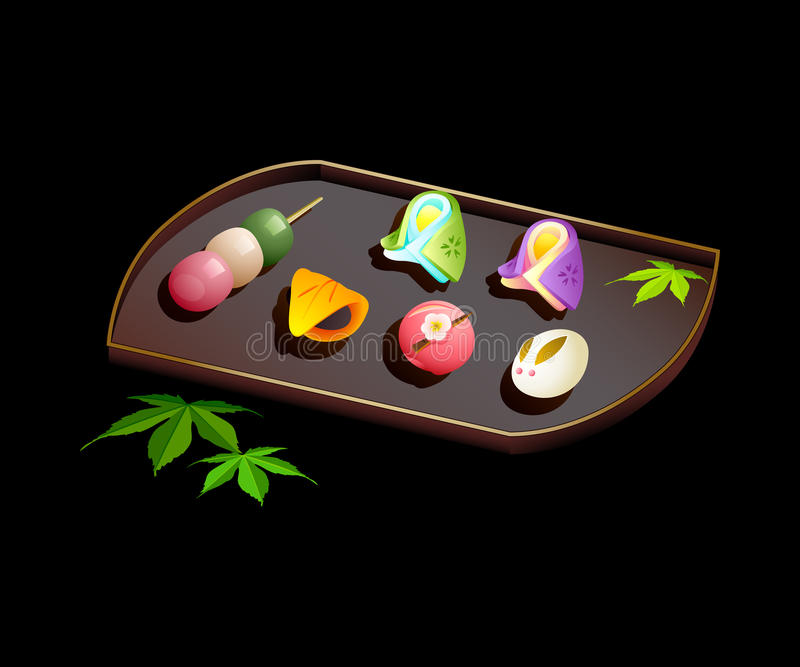 Japanese Sweets Stock Photography