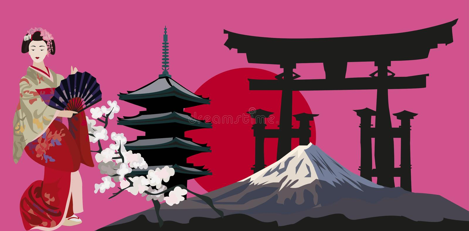 Japanese Symbols royalty free illustration