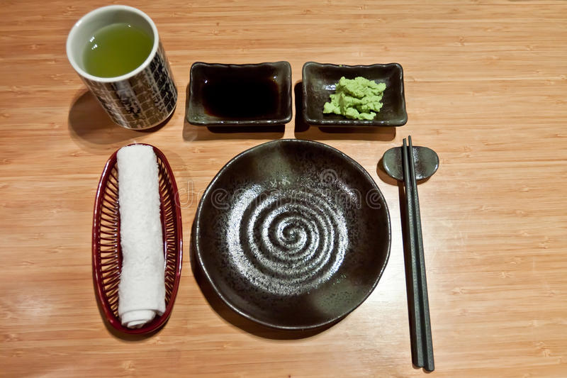 Japanese Table Settings stock image. Image of tea, sushi - 30600755