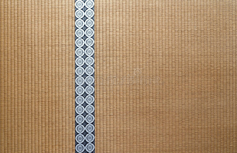 Japanese Tatami floor stock photo