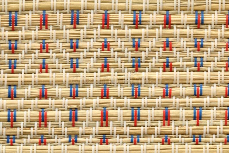 Japanese tatami mat decoration texture background. Japanese vintage tatami mat decoration texture background stock photography