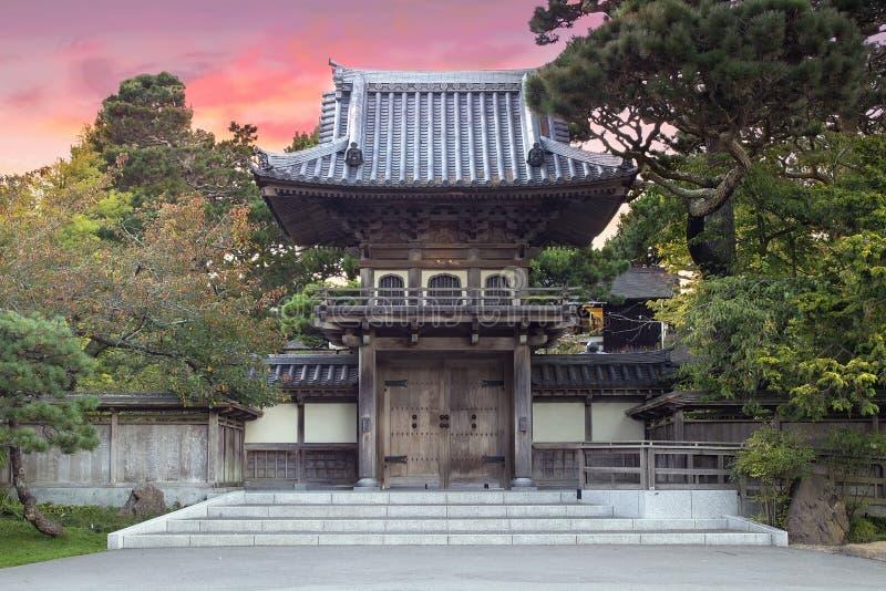 Japanese Tea Garden Entrance stock image