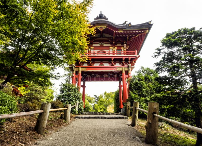 Japanese Tea Garden, Golden Gate Park, San Francisco, California, CA royalty free stock photo