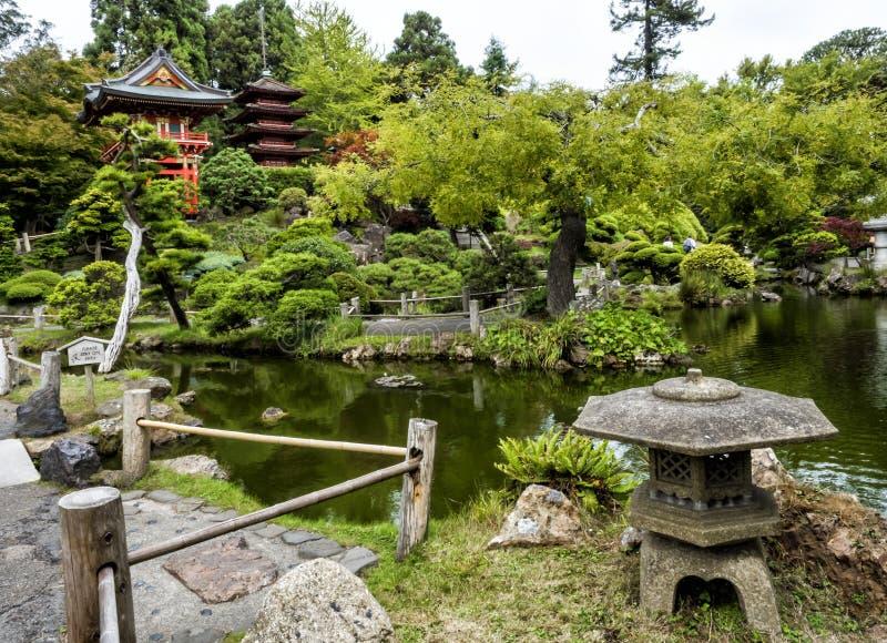 Japanese Tea Garden, Golden Gate Park, San Francisco, California, CA royalty free stock photography