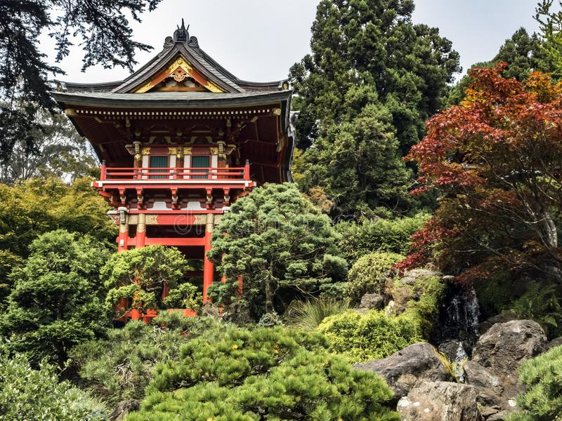Japanese Tea Garden, Golden Gate Park, San Francisco stock images