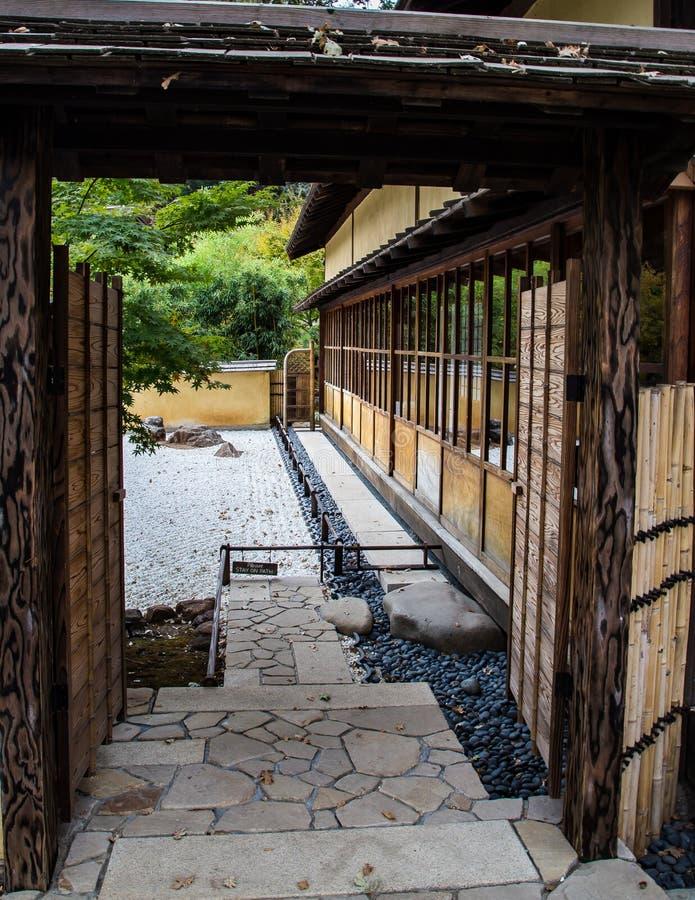 Japanese Tea Garden House stock photo