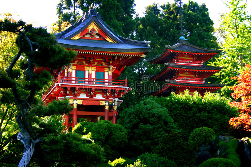 Japanese Tea Garden, San Francisco Stock Image - Image of building ...